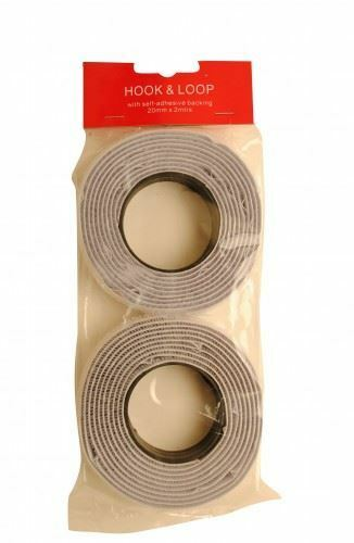Hook And Loop 20mmx2Mtr White Pack Of 1