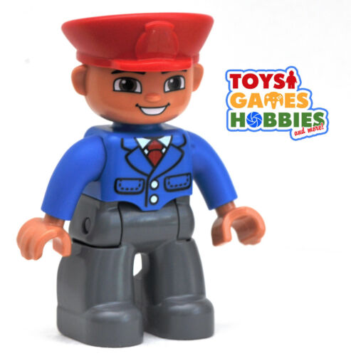 *NEW* LEGO DUPLO *NEW* LEGO DUPLO Train Conductor Figure Man Station Airport