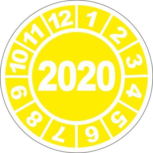 20 Stück UVV Prüfplaketten 2020 Plaketten Wartung Prüfung BGV D27 40mm 10815