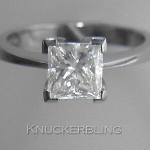 Diamond-Solitaire-Ring-1-50ct-Certified-D-SI2-EXC-Princess-Cut-18ct-White-Gold