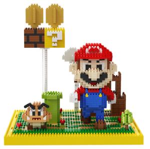 Baukästen Gebäude Game Mario Goomba Coin Castle Diamond Mini Spielzeug