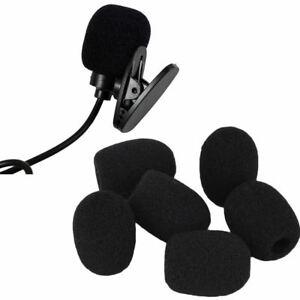 10Pcs-Small-Black-Headset-Microphone-Windscreen-Sponge-Foam-Mic-Cover-Pop-Filter