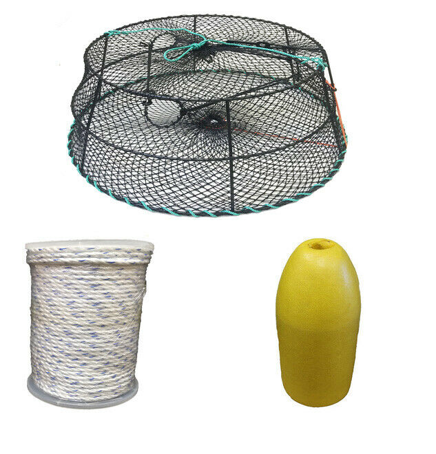 KUFA Sports  Vinyl Coated Crab Ring Trap with Crabbing Accessory(CT79+FYM403)