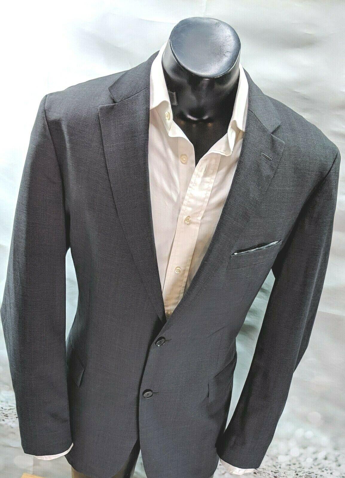 Hugo Boss Men's Blazer 44L  2 button Modern Wool