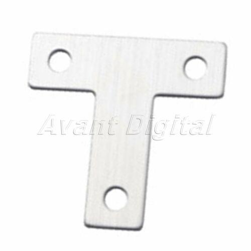 5 Pcs Stainless SteelT Shape Repair Mending Plate Joining Bracket Support Brace