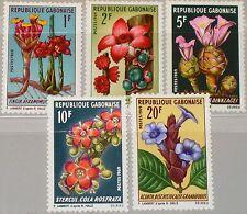 GABON GABUN 1969 341-45 244-48 African Plants Pflanzen Flora Blumen Flowers MNH