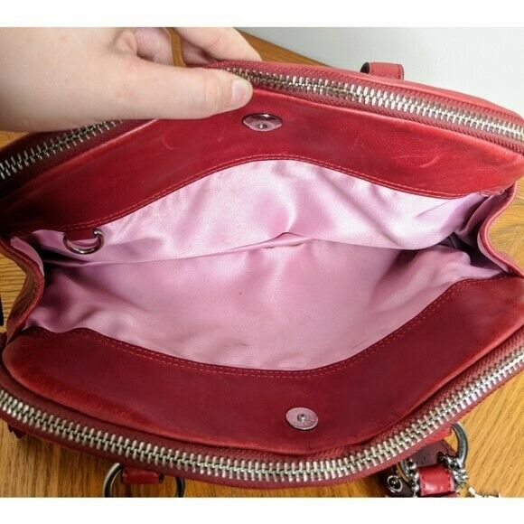Coach Red Leather Bonnie Satchel Preowned - image 4