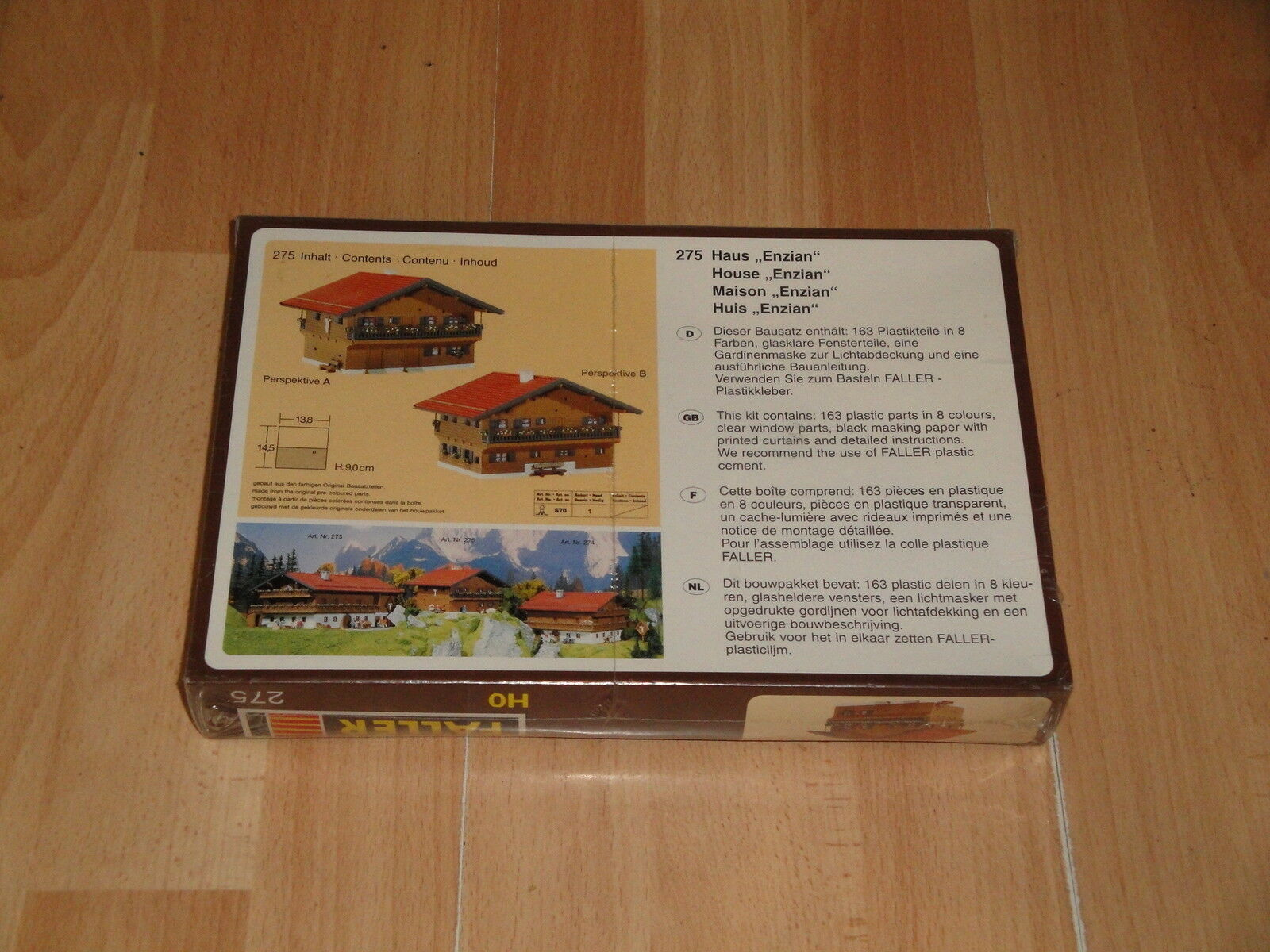 HOUSE ,, ENZIAN BY FALLER FALLER FALLER HO 275 MADE IN GERMANY NEW FACTORY SEALED 2d945a