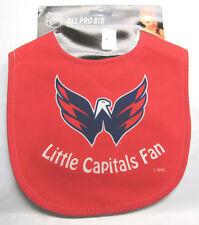NHL NWT INFANT ALL PRO BABY BIB - ALL RED - WASHINGTON CAPITALS