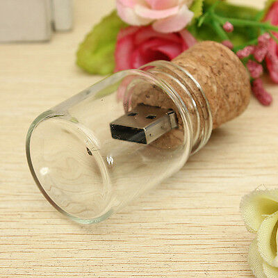 8GB USB 2.0 Drift Wish Bottle Flash Drive Memory Thunb Stick Pen Drive U Disk