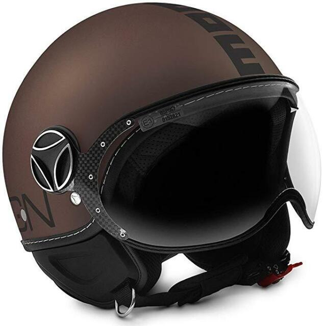 Casco Momo Design Fighter Evo Tabaco Frost - Black TAMAÑO S
