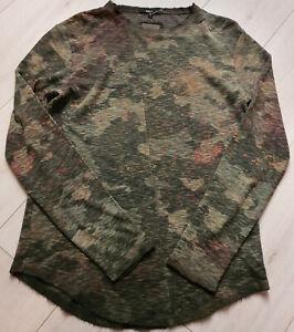 Tigha-Herren-Duenner-Strickpullover-Chibs-Waffle-Spray-Camouflage-Groesse-XL