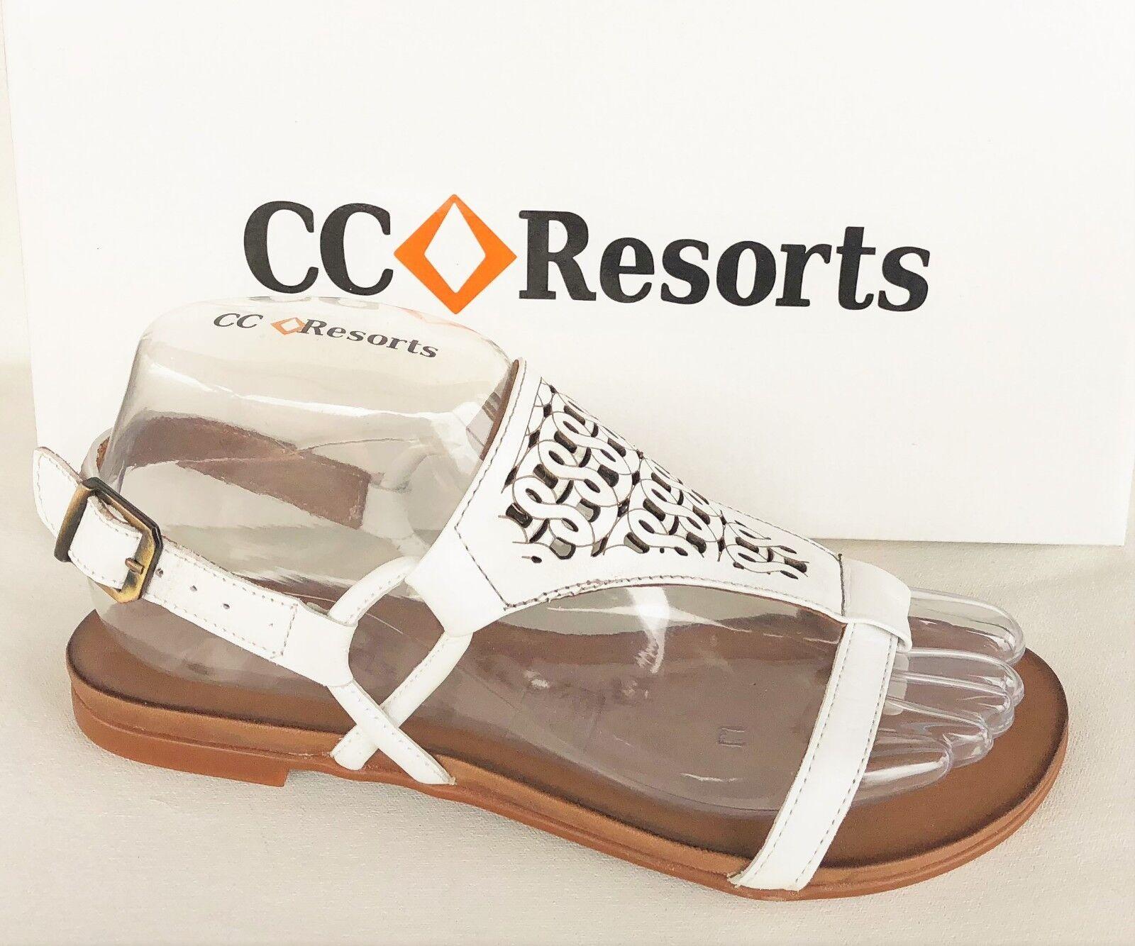 New leather flat Sandals  CC Resorts shoes - Larissa