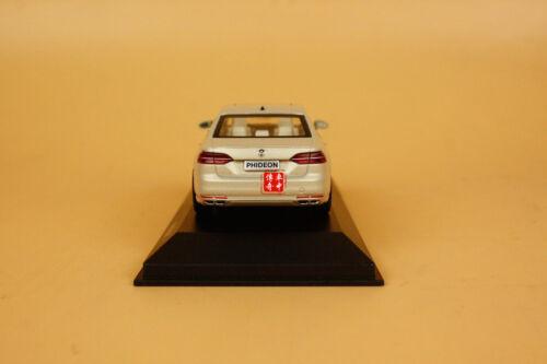 1//43 2016 Volkswagen Phideon light gold color diecast model