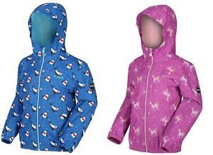 Regatta Kids Ellison Printed Childrens Waterproof Jacket Hooded Coat