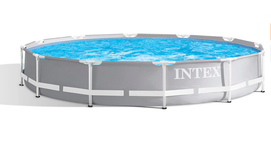 Intex 12Ft X 30In Prism Metal Frame Swimming Pool, Grey ✅✅✅ FAST DELIVERY