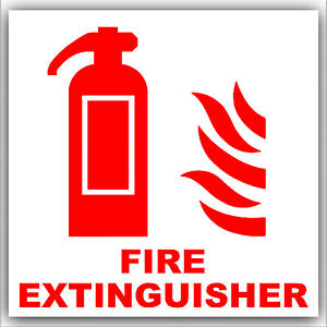 6 X Fire Extinguisher Stickers Health Amp Safety Warning