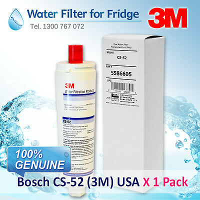 3 PACK OF CS-52 Bosch Internal Fridge Filter 5586605 GENUINE  PART