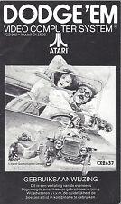 MANUAL for ATARI 2600 GAME CARTRIDGE DODGE 'EM - Dutch