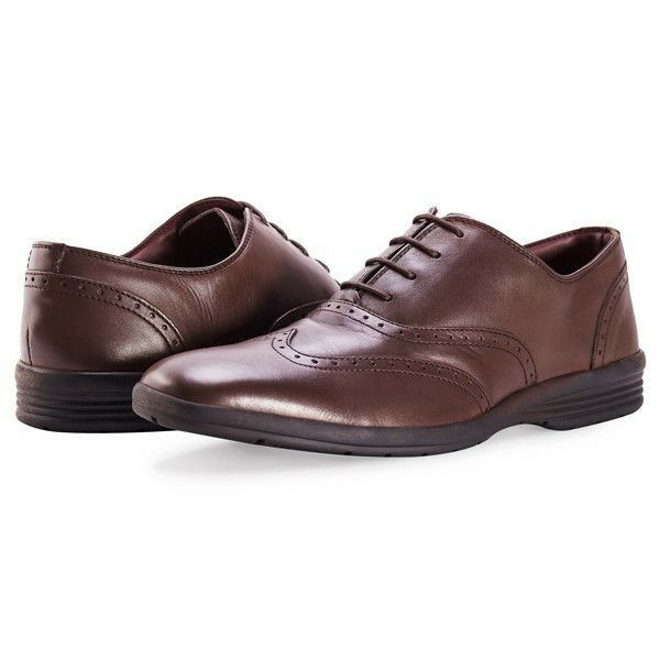 Redfoot Leather Cushion Step Oxford Brown Lace Up Mens shoes RRP