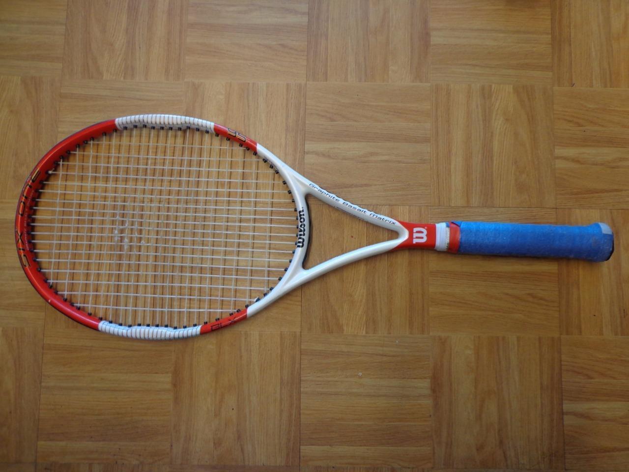 Wilson 2014 patrón de seis uno 95 18x20 11.7  OZ (approx. 331.68 g) 4 1 4 de Agarre Tenis Raqueta  wholesape barato