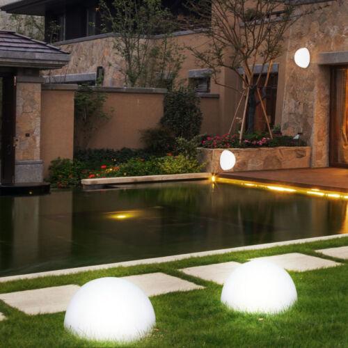 4x LED Solar Außen Boden Wand Leuchte Halb Kugel Lampe Beleuchtung Terrasse Hof
