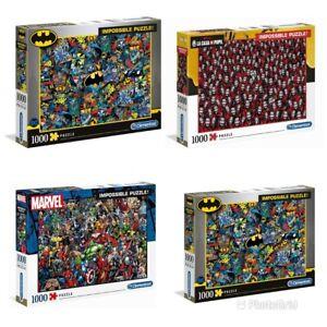 Clementoni Assortimento Impossibile Puzzle 1000 Pezzi Marvel Dc Batman Netflix