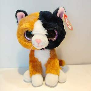 Tauri-the-Calico-Cat-Ty-Beanie-Boo-Plush-Style-37178-Regular-6-15cm-NEW