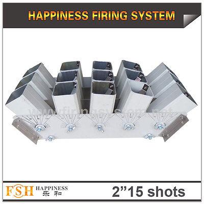 2 inch 15 shots racks, AL display rack for fireworks,roman candles single shot
