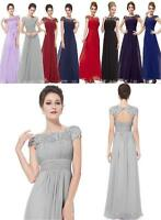 Long Maxi Evening Bridesmaid Formal Party Prom Dress Gown Size 6 -26