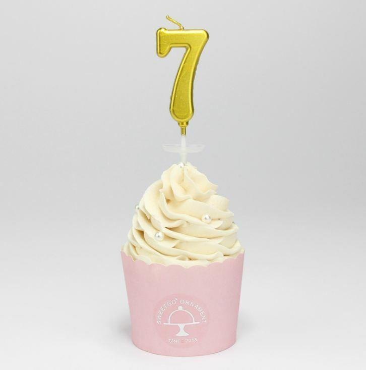 NUMBER 9 CAKE SPARKLER BIRTHDAY CELEBRATION DRINKS DESSERTS CANDLE DECORATION