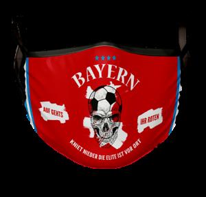 Bayern Fan-Artikel Behelfsmaske Mund Nasen Maske Bedeckung Masken Waschbar
