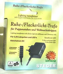 und Flackerlicht-Trafo für Puppenhäuser 3,5Volt Kahlert Steger Ruhe Krippen
