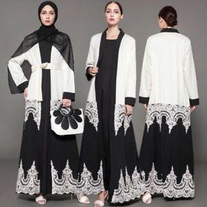 Muslim Women Dubai Open Cardigan Islam Abaya Saudi Arabia