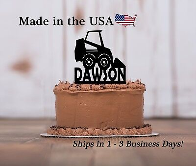 Tractor birthday candle//cake topper handemade x 4