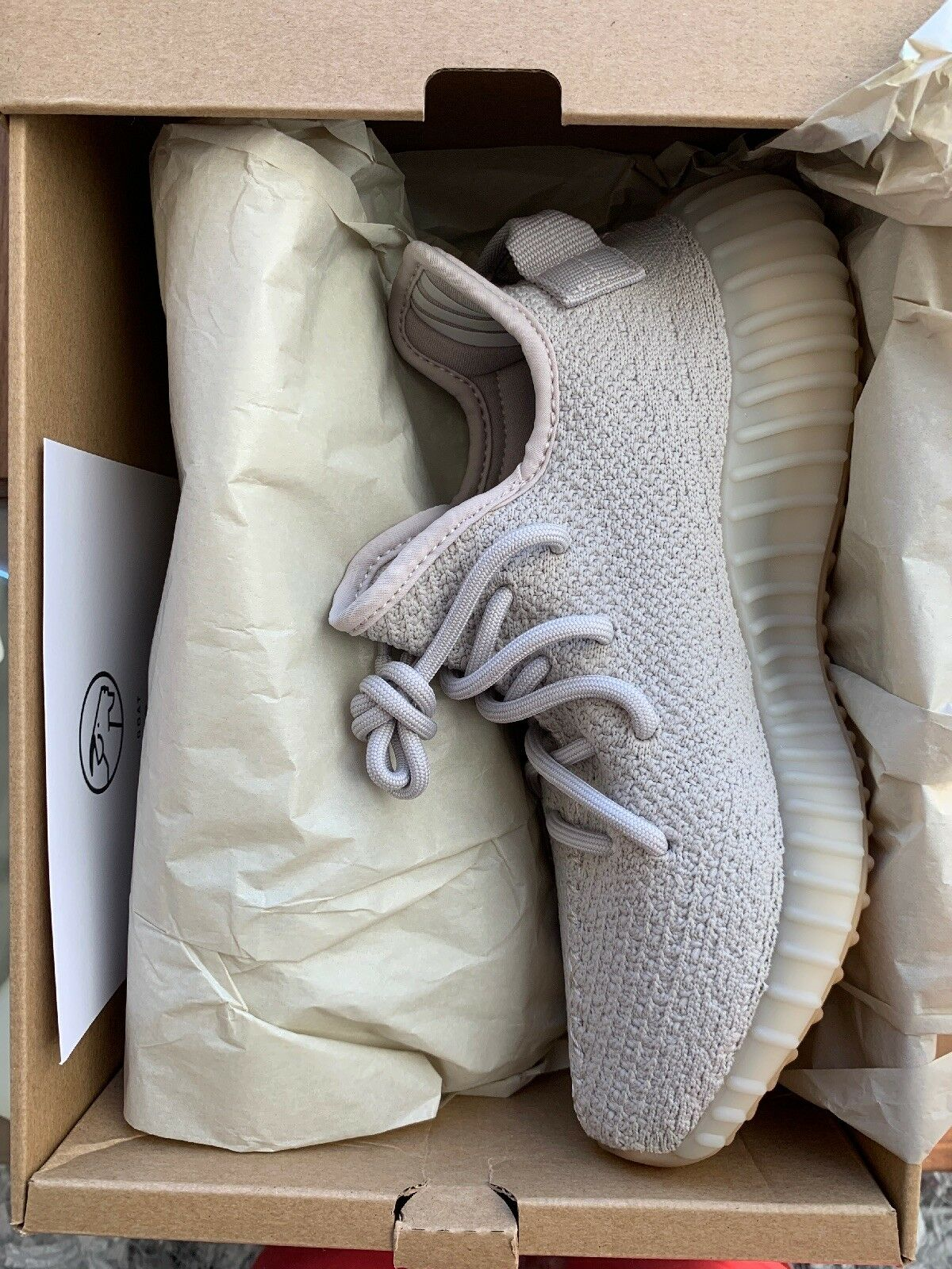 New 100% AUTHENTIC Adidas Yeezy Boost 350 v2 Sesame Size 5 1 2 5.5