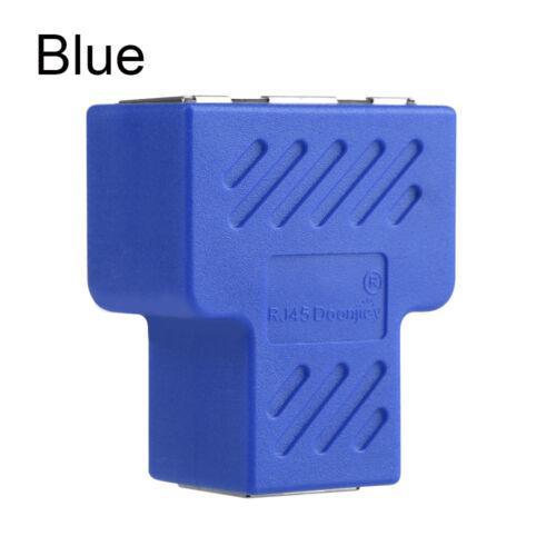 1 to 2 LAN Ethernet Network RJ45 Splitter Extender Plug Cable Adapter Connector