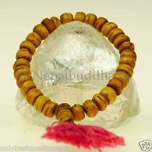 Bracelet-Perles-Brun-Rose-Corne-De-Buffle-Indien-Bohemien-Bonheur-Nature