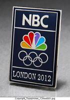 Olympic Pins 2012 London England Sponsor Nbc Media Television Logo