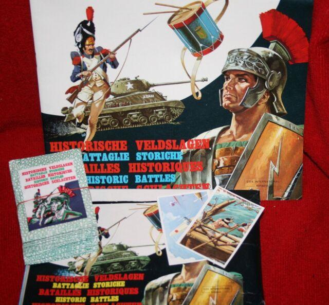 Historische Schlachten Cox International Sticker Leeralbum mit 200 Sticker Tüten