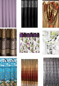 Huge-Fabric-Shower-Curtain-Selection-Many-Styles-Popular-Bath-Dolphin-Ruffles