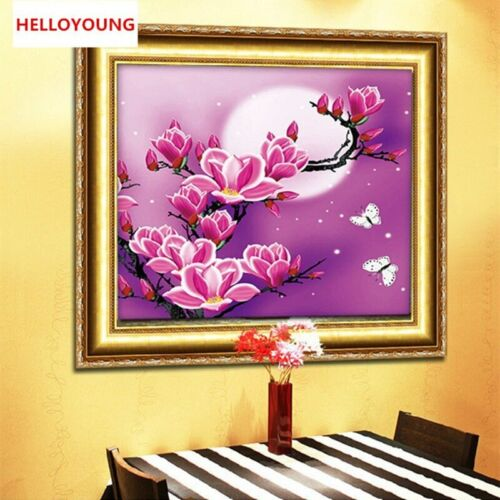 Diamond Painting 5D Magnolia Flowers Painting Embroidery Kit Home Decoration