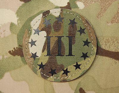 III Per Cent /& 2A 3D PVC GITD Ranger Eye Patch 3/% Come Take It NRA VELCRO® Brand