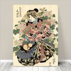 "Beautiful Japanese GEISHA Art ~ CANVAS PRINT 8x10"" Courtisan In Kimono #235"