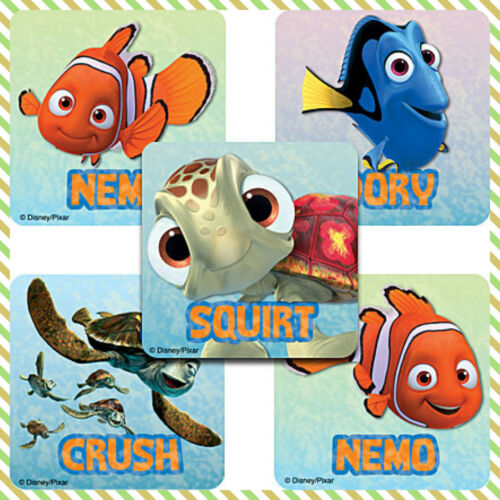 Finding Nemo Stickers x 5 Merit Reward Charts Teachers Birthday Favours