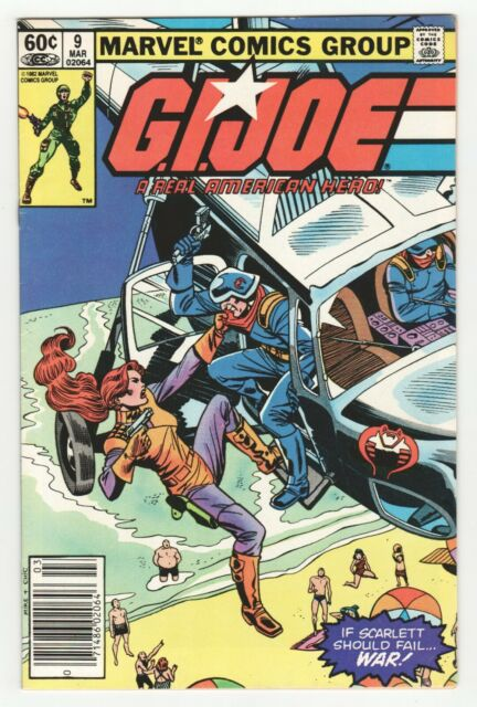 G.I. Joe #9 Newsstand (Marvel 1983) Real American Hero - Mike Vosburg Cover Art