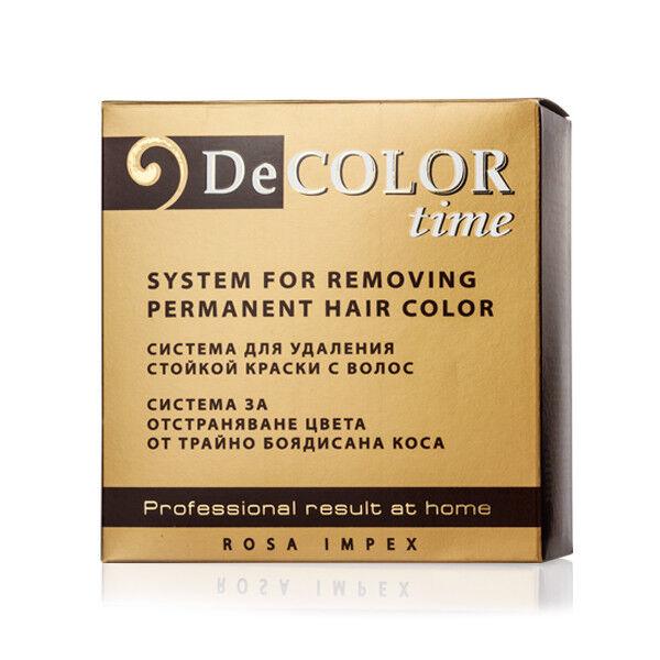 Decolor Tiempo Sistema para Eliminar Coloración de Cabello 330ml Por Rosa Impex