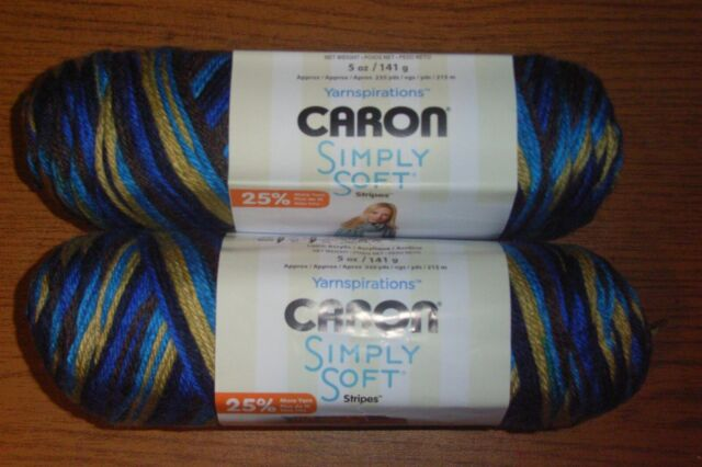 3Pk Spinrite 294019-19007 Simply Soft Stripes Yarn-Jersey Shore