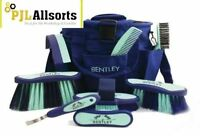 Quailty Bentley 9 Piece Grooming Kit In Blue & Mint Green Free Carry Bag & P&p