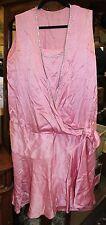"""Antique Vintage Ladies Pink Silk & Rhinestone Flapper Dress """"As Found"""""""